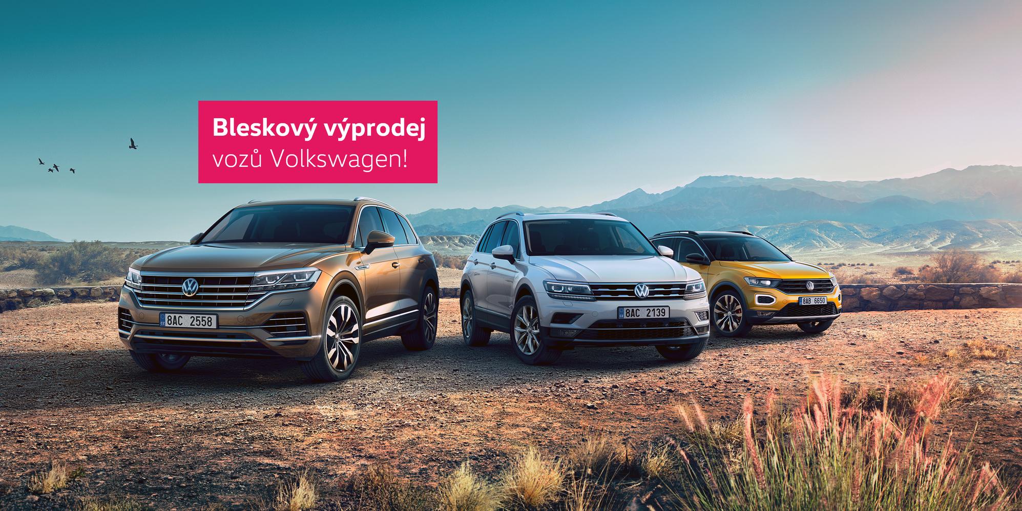 Modely Volkswagen se zvýhodněním až 354 000 Kč!